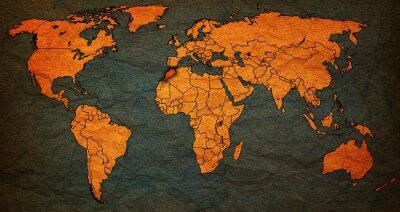 Image Territoire marocain sur la carte du monde