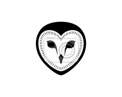 La Chouette Symbole tête de hibou noir illustration main dessin symbole logo vectoriel