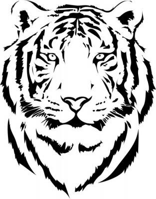 Image tête de tigre dans l'interprétation noir 2