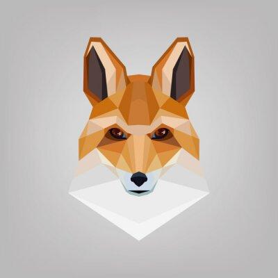 Image Tête polygonale géométrique est renards. Logo design.