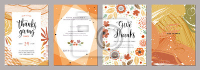 Image Thanksgiving greeting cards and invitations.
