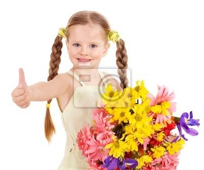 Thumb up d'enfant heureux.