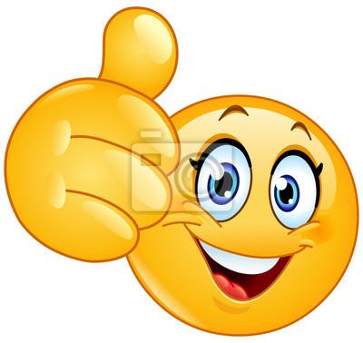 Photo Poster Happy Smiley Emoticones Telephone Art Encadree Emoji Imprimer Thumbs Up Tentures Murales Tapis Maison