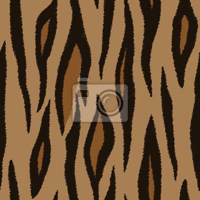 Tiger skin. Seamless patterns