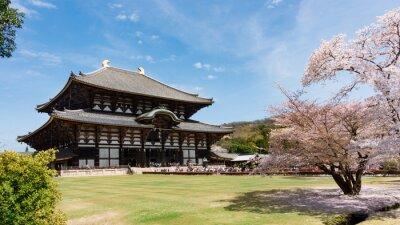 Image Todaiji, temple, sakura, saison, Nara, Japon