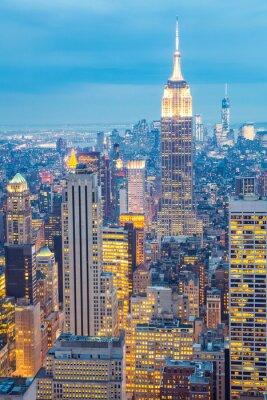 Image Toits de New York au crépuscule USA