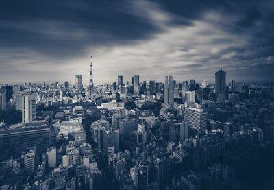 Image Tokyo City View et Tour de Tokyo dans le ton sombre