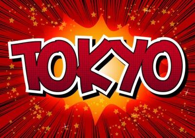 Image Tokyo - mot de style de bande dessinée.