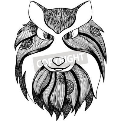 Coloriage Adulte Loup.Totem Animal Loup Adulte Anti Stress Page Pour Livre A Colorier