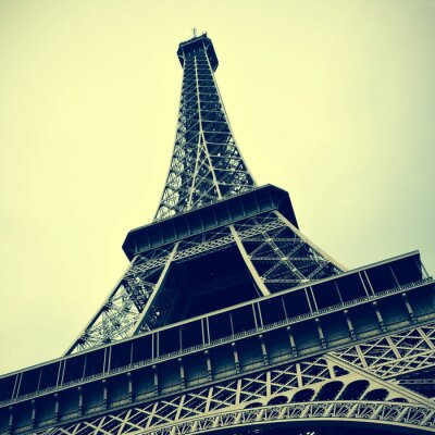 Image Tour Eiffel à Paris, France avec un effet rétro