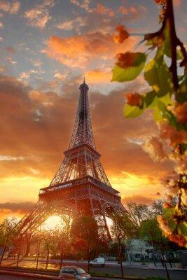Image Tour Eiffel pendant beau matin de printemps à Paris, France