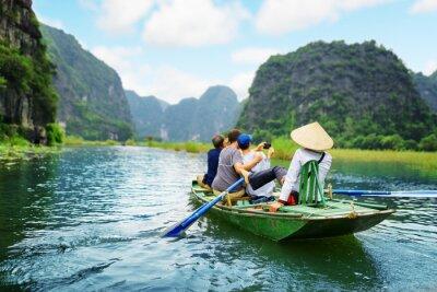 Image Touristes prenant la photo. Rameur, utilisation, pieds, propulsion, rames