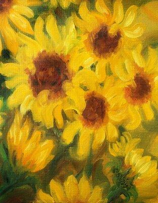 Image Tournesols ensoleillés Peintres de l'huile sur toile.