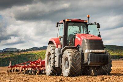 Image Tracteur rouge.