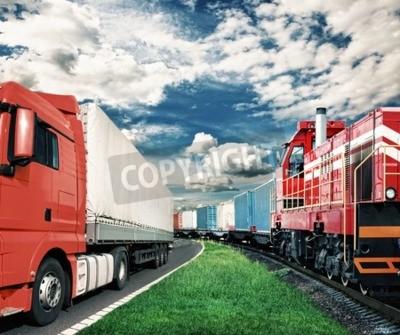 Image Train, camion, transport, concept