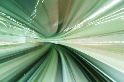Image Train, mouvement, rapide, tunnel