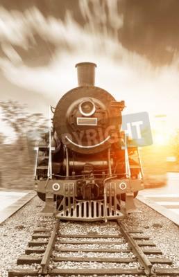 Image Train vapeur noir vapeur vapeur