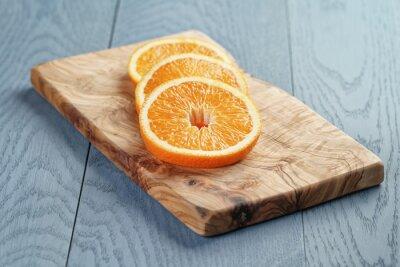 Image Tranches, mûre, orange, olive, coupure, planche, peu profond, foyer