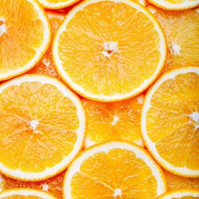 Image Tranches, orange, fond
