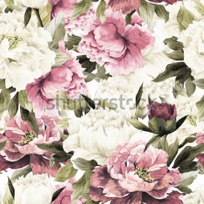 Image Transparente motif floral avec des roses sur fond blanc, aquarelle.