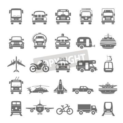 Image Transport d'icônes noires