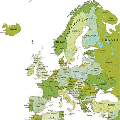 Image Très détaillé modifiable carte politique. Europe.