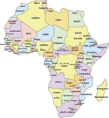 Image Très détaillée Carte de l'Afrique politique.