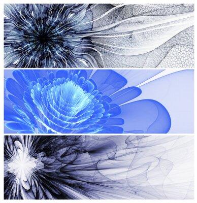 Image Trois baners de fleurs abstraites