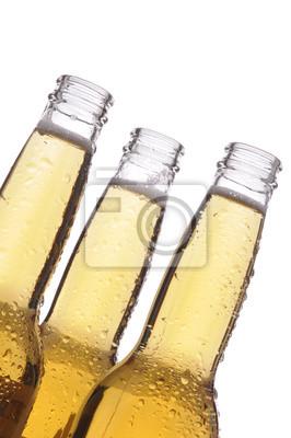 Trois bouteilles de bière
