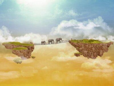 Image Trois éléphants. Illustration.