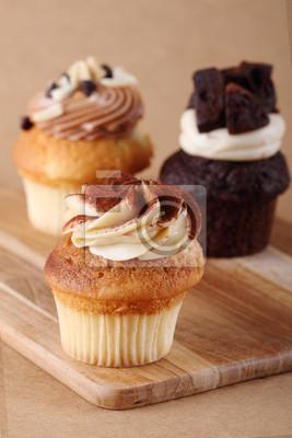 trois petits gâteaux sur la plaque