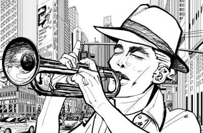 Image trompettiste new-york