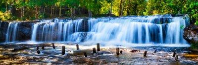 Image Tropical, chute eau, jungle, mouvement, flou