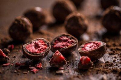 Image truffes au chocolat noir