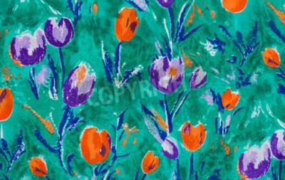 Image Tulipe, impression, tissu, fin, haut, fond