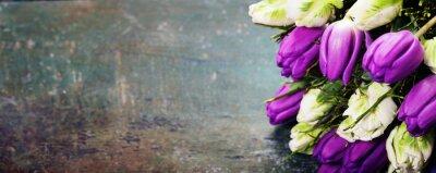 Image Tulipes, bois, fond
