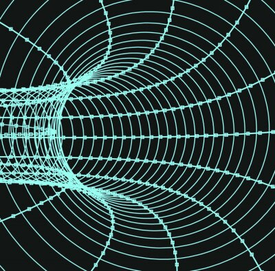 Image Tunnel ou tube abstrait en trois dimensions