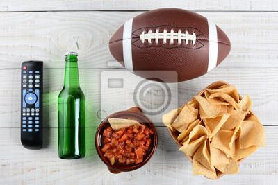 TV à distance, Salsa, Bière, Chips et Football