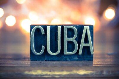 Image Type de Cuba Metal Concept Typographie