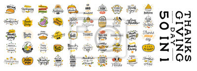 Image Typographie de bonne fête de Thanksgiving.