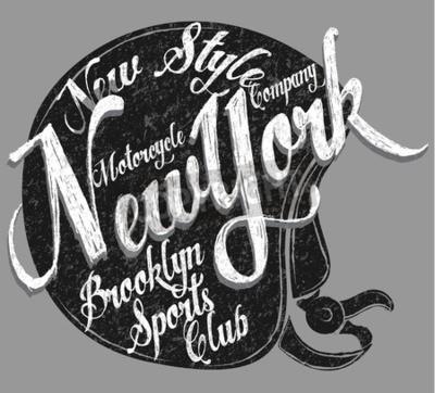 Image Typographie de casque de moto New York Sports Club