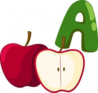 Image Un alphabet pour la pomme