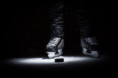 Image Un joueur de hockey. Voir seulement Legs
