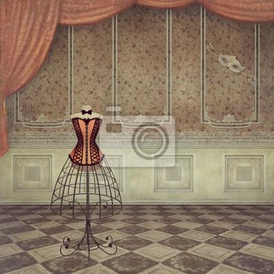 Un mannequin vintage romantique dans la chambre
