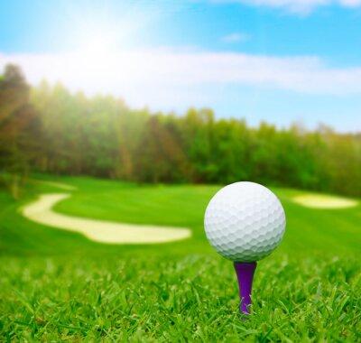 Image Une balle de golf sur le parcours