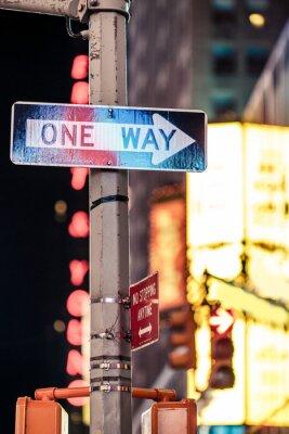 Image Une façon de New York panneau de signalisation