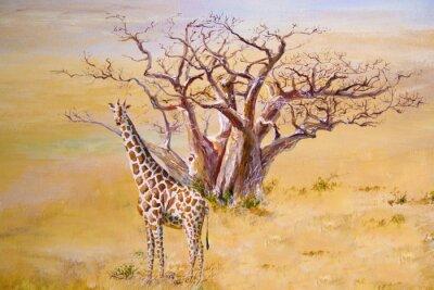 Image Une girafe, le Kenya