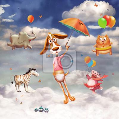Une image d'animaux volants