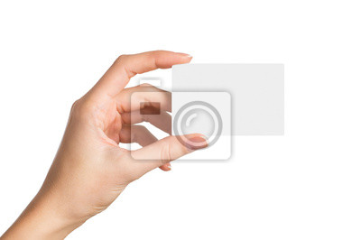 Image Une main tenant carte de visite vierge