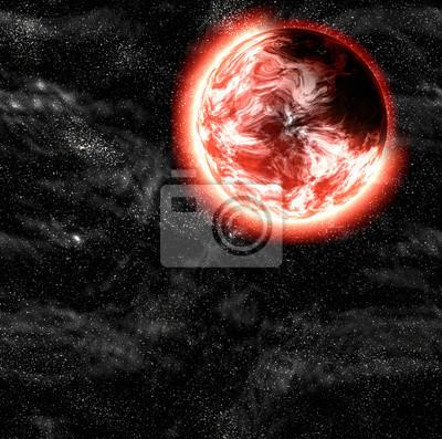 une ombre à côté de la planète. milieux cosmos ciel